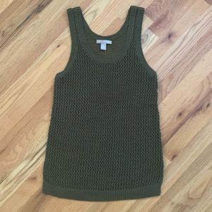 BANANA REPUBLIC Army Green Sleeveless Top Sz M